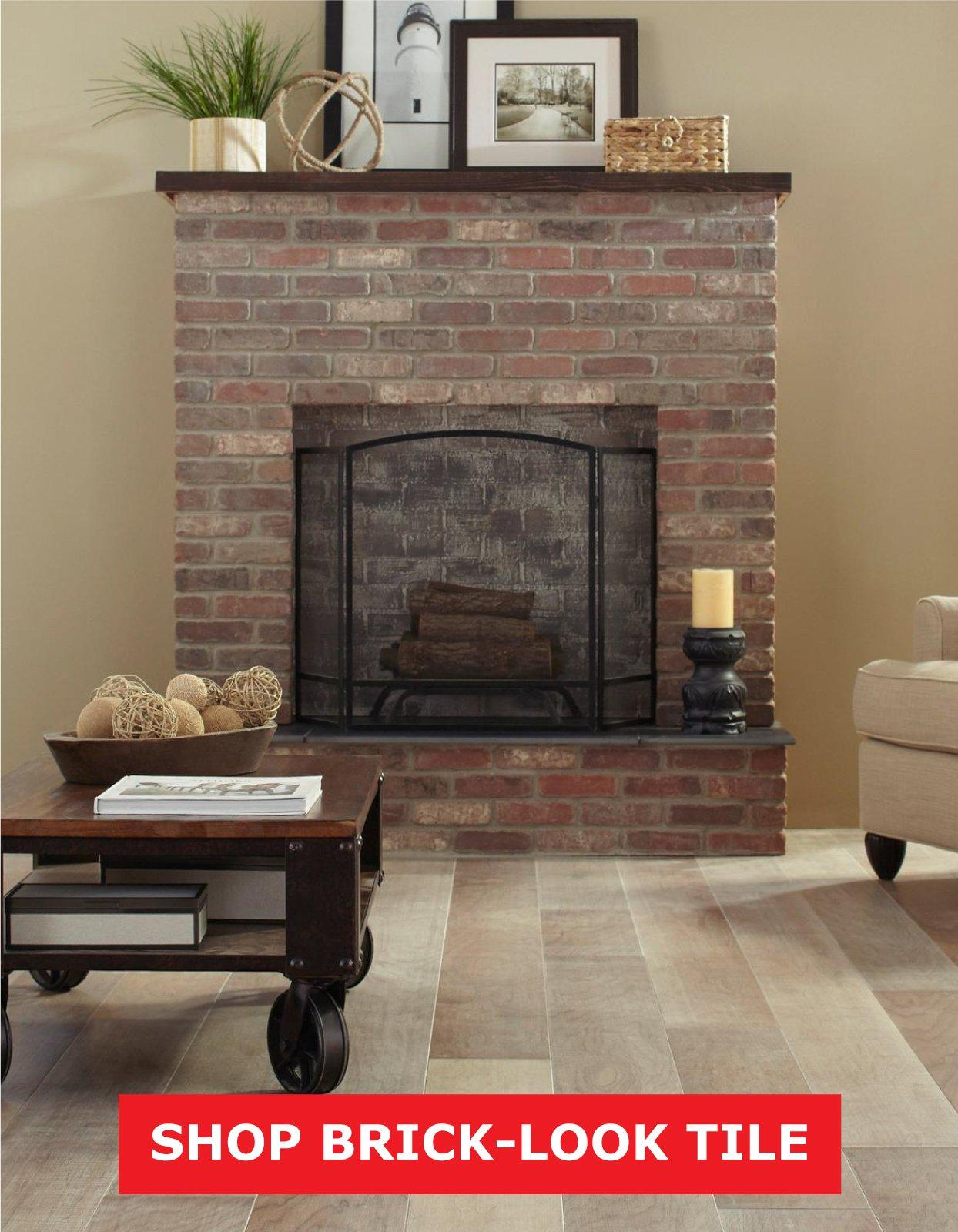 From Brick Look Or Contemporary Tile To Stone Ledger And Wood The Possibilities Are Endless
